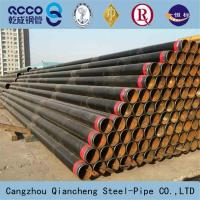 SEAMLESS STEEL PIPE API 5L ASTM A53 A106 WITH BLACK COATING BEVELLED ENDS AND CAPS