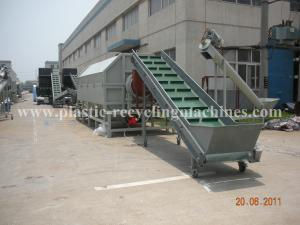 100 - 300 KW PET Bottle Recycling Plant Plastic Baler Machine With Label Removing