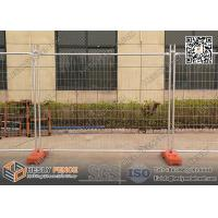 Height 2.1mx2.4m Temporary Fence panels for sale with HDPE Orange Color Blow Moulded Feet |  AS4687-2007