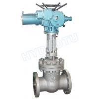 PN 0.25 - 6.4 Mpa Electric/ Manual Flanged Gate Valve / Sluice Valve for Hydro Power Station