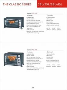 China Toaster oven in home appliance Kitchen convection Vertical  toaster oven GK-T0-34D supplier