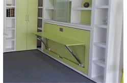 escritorio plegable del ordenador de la sola de murphy de la pared de la cama cama horizontal de la pared
