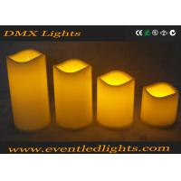 Moving Wick Flickering Led Candles , Yellow / White Led Votive Candles