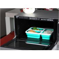 Food Grade Silicone Microwave Safe Lunch Box Containers With Heat Transfer Printing Logo