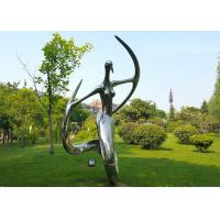 Polished Stainless Steel Abstract Outdoor Metal Sculpture for Garden
