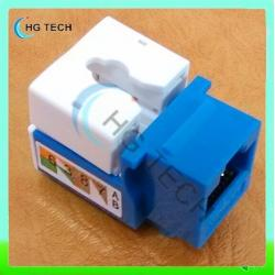 China Blue Color Cat6 RJ45 Keystone Jack on sale