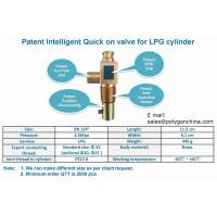Intelligent Quick on valve for LPG cylinders