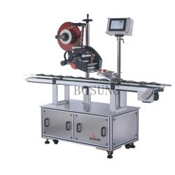China Self Adhesive Full Automatic Top Labeling Machine / Label Application Equipment on sale