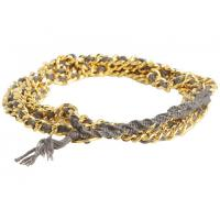 OEM Western style harmless color matt finished gold mixed chain bracelet for men