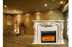 chemin e lectrique europ enne flamme blanche ene ivoire. Black Bedroom Furniture Sets. Home Design Ideas