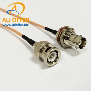 BNC Male Switch BNC Female Pigtail Cable RG316 15CM for CCTV Camera Radio Wholesale,BNC Female to BNC Male Pigtail Cable