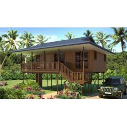 China new design Moistureproof Wooden House Bungalow / SAA Home Beach Bungalows on sale