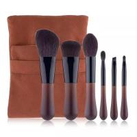 High quality soft touch makeup brush travel set OEM cosmetic brush set factory