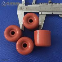 Shanghai Qinuo 40x50mm Red Silicone Rubber Round Door Stop