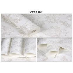 China Embossed Bed Room Self Adhesive Wallpaper Non Woven Wallcoverings 0.53*10M on sale