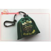 Silk Screen On Fabric Dog Poop Bag Carrier With Compostable And Bio Printing Bag