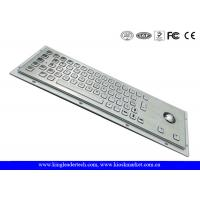 Waterproof Kiosk Or Industrial Computer Keyboard With Flat Keys And Trackball