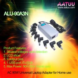 China 90W AC Universal Laptop AC Adaptor with Voltage Auto-detection and LCD Show -ALU 90A3N on sale