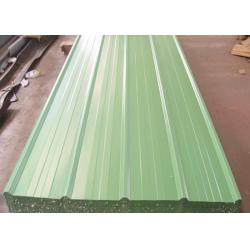 China SPCC Zinc Corrugated Steel Sheets Color Coated Roofing Sheet In Green , Orange on sale