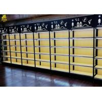 25MM MDF Layer Wood And Metal Shelves With Advertising Board For Cosmetics Store
