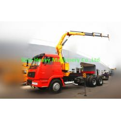 China 5 ton Knuckle Truck Mounted Crane in White Red , SQ5ZK3Q Boom Truck Crane on sale