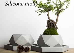 V001 Creative polygon vase concrete planter mold handmade craft home decoration geometry cement flowerpot molds