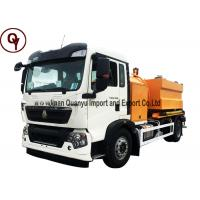 Sinotruk High Pressure Garbage Collection Truck , Diesel Fuel Type Trash Truck