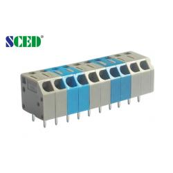 China Pitch 3.50mm Spring Screwless Terminal Block 300v 10a Electric Degree Terminal Block on sale