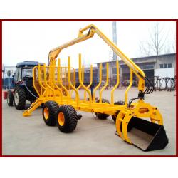 China Cheap price of atv wood trailer with crane max.loading capacity upto 10MT on sale