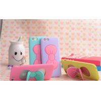 Bowknot Stand Function Soft Silicone Phone Cases for Iphone 6s Back Cover Bag