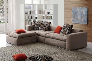 Modular Corner Sofas Set Feather Cushion Seat Sofa Yellow