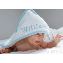 China Durable White Hooded Baby Towels Embroidered For Family 350gsm on sale