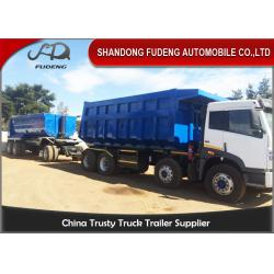 China Tipper Draw Bar Trailer  For Agricultural Goods , Dumping Trailers With Tow Bar on sale