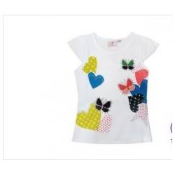 China Personalized Mini Cap Sleeves Cotton round neck Toddler Graphic Tees, Girl t Shirts on sale