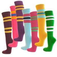 Pink heart - shaped Microfiber women long five toe socks, knee high toe socks
