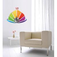 Modern Home Decoration Crystal Boat Wall Sticker Clock 10D013