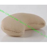 Comfort Japanese Spa Bath Pillow , 3D Mesh Cloth Pe Pipe Travel Neck Pillow