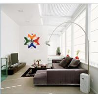 2012 New Design Vinyl Wall Sticker Clock 10A053 Flower Wall Decoration