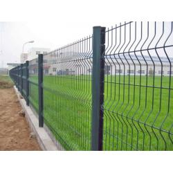 China PVC Coated Welded Wire Mesh Fence,3 bends wire mesh fence with post on sale