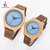 Christmas Gift Minimalist Leather Watch Made Of Wood Custom Dials