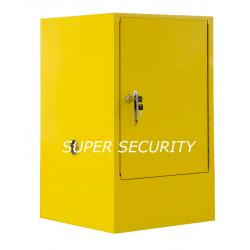 China Single Door Red Heavy Duty Steel Flammable Liquid Chemical Storage Cabinets With Doors / 1 Shelf on sale
