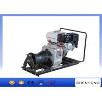 10KN Belt Driven Steel Cable Powered Pulling Winch With HONDA Gasoline Engine
