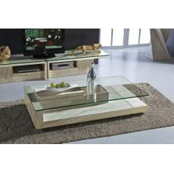 Excellent Modern Travertine Stone Coffee Table Rectangle Glass Center Table  With Glass Center Table Designs Part 94