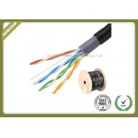 Outdoor water blocking oxygen free copper shielded Cat5e  UTP cable 305M 0.5mm diameter