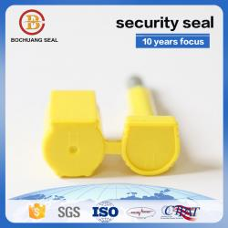 China ISO17712 heavy duty disposable anti tamper yellow green white blue seals for shipping container B201 on sale