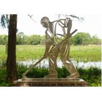 Stainless Steel Outdoor Metal Sculpture , Metal Figure Sculpture For Public Decoration