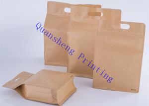 Quad Sealed Square Bottom Coffee Storage Bags For Coffee Powder / Coffee Beans