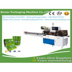 China Custom design plastic roll soft pvc film for ice cream packaging with bestar pillow packaging machine BST250 on sale