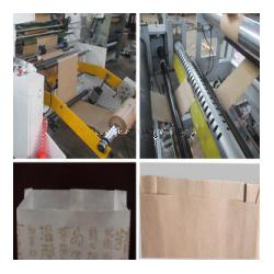 China 18Kw Bread Paper Bag Making Machine ProducingSharpBottomFoodBags on sale