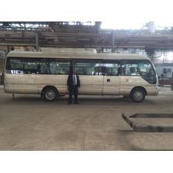 China 8.1M Diesel Coaster Public 30 Seater Minibus Cummins Engine With Multiple Functions on sale